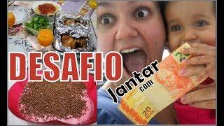 DESAFIO JANTAR COM R$20,00   + Vlog no supermercado