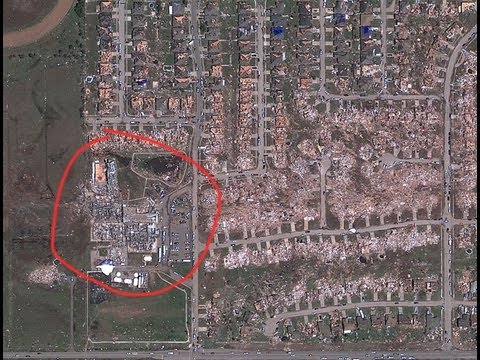 Moore, Oklahoma Tornado, Google Maps view - May 20, 2013 - YouTube