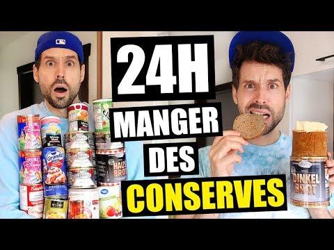 JE MANGE QUE LA NOURRITURE EN CONSERVE PENDANT 24H - HUBY