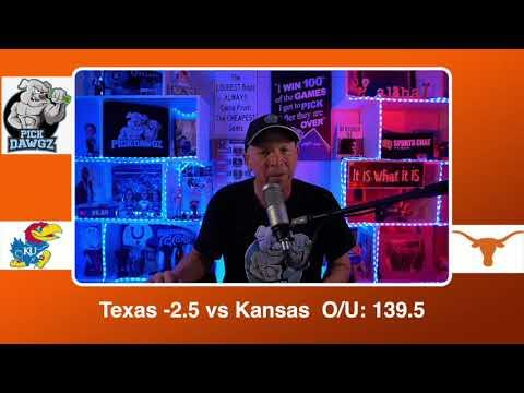 Texas vs Kansas 2/23/21 Free College Basketball Pick and Prediction CBB Betting Tips