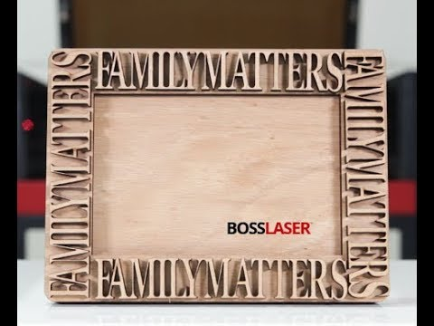 CO2 Laser Cut Oak Wood Picture Frame - Download Free File