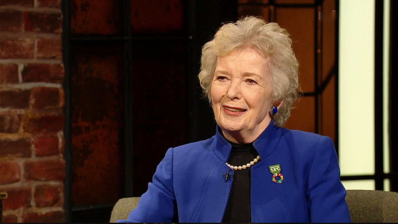 """""""Things have changed around here - make your own tea!"""" Mary Robinson   The Late Late Show   RTÉ One"""