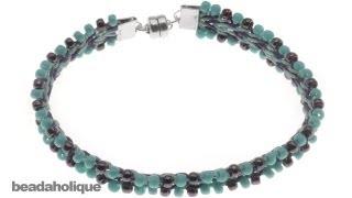 How to Add Beads to a Flat Kumihimo Braid