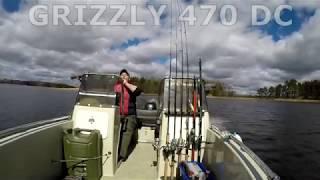 Компактный катер Grizzly 470 DC Suzuki DF60atl. Финский залив. ГИМС проверка документов.