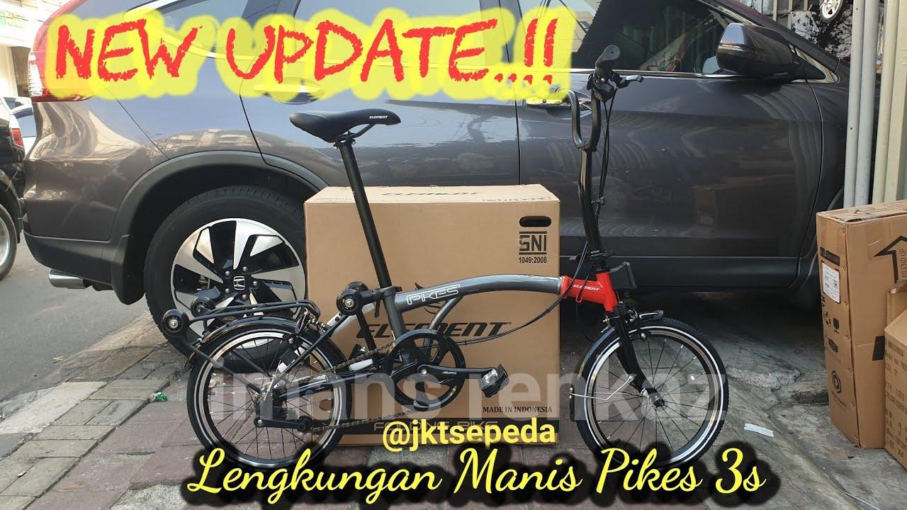 New Update Mirip Brompton Chapter 3 Sepeda Lipat Element Pikes 3s Moonwalk Grey Youtube