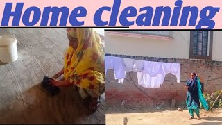 Home cleaning |hardworking life of Punjab |by Dullat family vlogs||