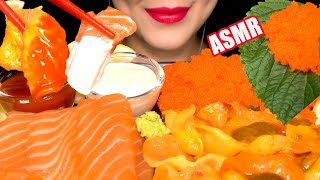 TOBIKO EGGS SALMON SASHIMI SEA…
