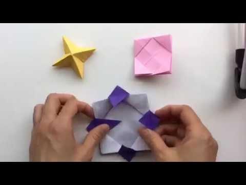 クリスマス 折り紙 折り紙で作る花 : youtube.com