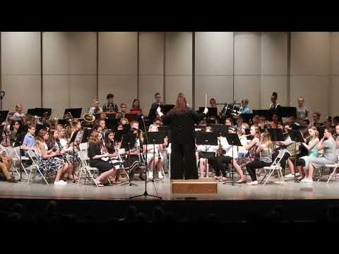 "Norfolk Middle School 6th grade band 2018 ""To Conquer the Kraken"""