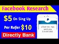 Facebook Research app ! Just Sing Up $5 In 5minute! Earn Money Facebook Research App