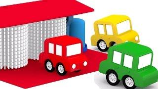 3D мультики про машинки. 4 МАШИНКИ на автомойке. Развивающие мультики для детей.