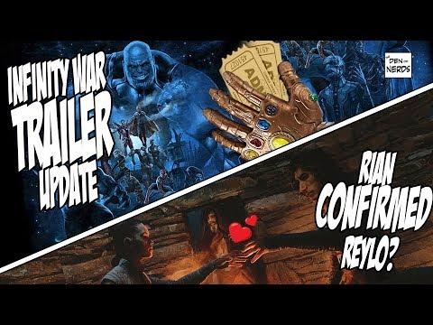 Infinity War Trailer 2 Release Date | Reylo CONFIRMED by Rian Johnson | NERDY NEWS