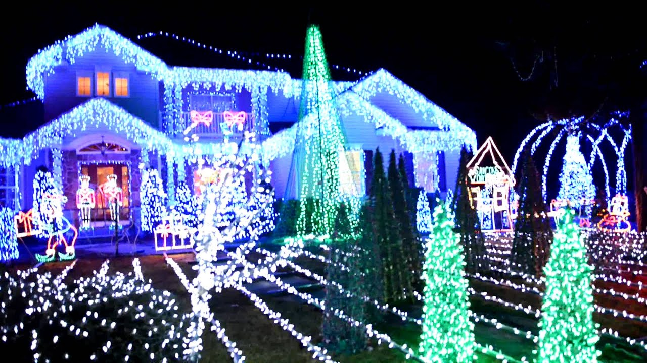 insane christmas lights set up griswold style youtube