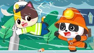 Angin Kencang Melanda Kampung Bayi Panda | Bayi Panda Tidak Pernah Takut | BabyBus Bahasa Indonesia