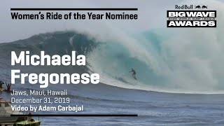 Michaela Fregonese at Jaws | WOMEN'S RIDE OF THE YEAR AWARD NOMINEES
