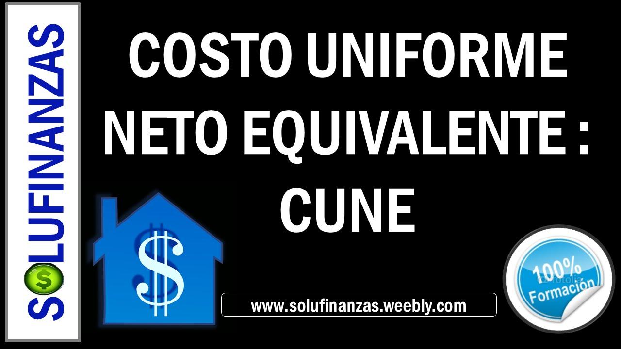 EVALUACION DE ALTERNATIVAS DE INVERSION 1 : CUNE