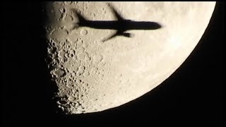 Nikon Coolpix B700 Moon Close Up -  Airplane Crossing The Moon - 9/28/2017