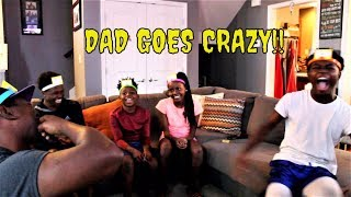 Hedbanz Mom and Dad Goes CRAZY acting up Family Game Night