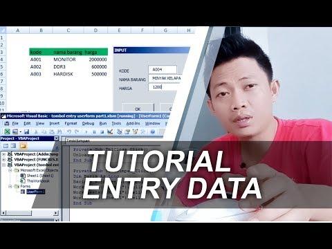 Tutorial Membuat Entri Data Form di Excel
