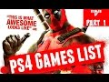 "All ""D"" PlayStation 4 Games 