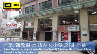 Publication Date: 2021-07-20 | Video Title: 【HK 4K】佐敦 彌敦道 及 拔萃女小學 之間 內街|DJ