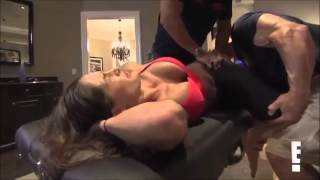 Repeat youtube video Total Divas Season 1, Episode 7 clip John and NIkki Stretch Together  9/7/13
