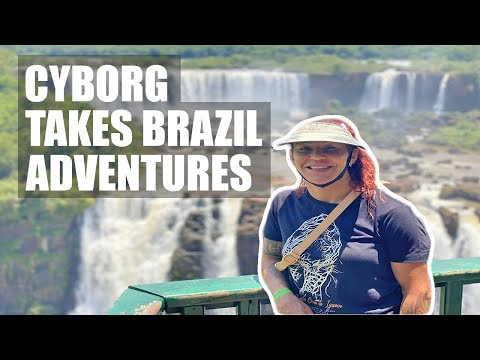 Cris Cyborg takes Macuco Safari at the Iguazu Falls on boarder of Brazil, Paraguay, and Argentina