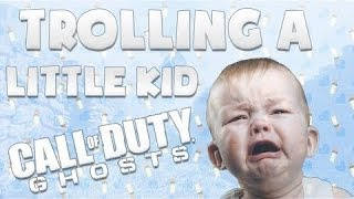 TROLLING a LITTLE KID on Call Of Duty Ghosts! - (FUNNY SQUEAKER RAGE!)