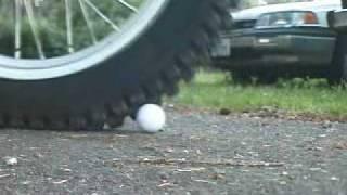 Michelin X-11 Trials Tire Golf Ball Test