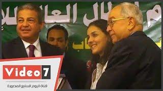 وزير الرياضة يشهد حفل تكريم أبطال العالم للإسكواش بنادى الجزيرة