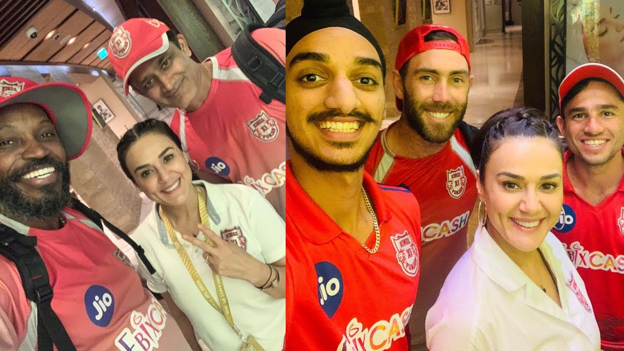 Preity Zinta ,chris gayle & Ravi bishnoi excited as KXIP TEAM Win back to back IPL MatchesIKKRvsKXIP