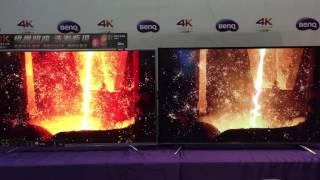 BenQ 4K HDR護眼電視SY系列(左)對比4K IPS面板面板差異