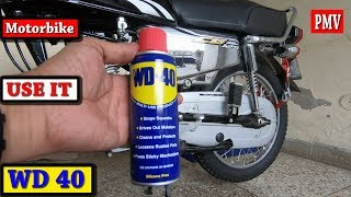 WD 40 FOR MOTORCYCLE PARTS DEMONSTRATED ON HONDA CG 125 SE MODEL 2019