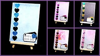 Basteln für Muttertag | DIY Geschenk Herz Karten selber machen | Basteln mit Papier