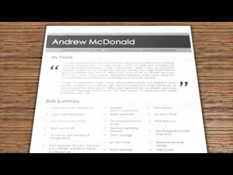 contemporary resume examples thinksmart resumes mp4 youtube