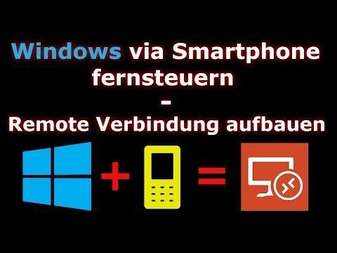 💻 Windows Via Handy 📱 FERNSTEUERN - Remote Verbindung Aufbauen 🔥