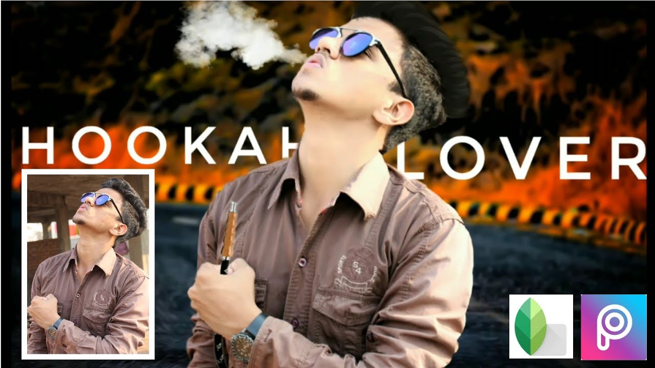Hookah Lover Photo Editing Tutorial || Picsart Editing Tutorial ||  Snapspeed ||Manipulation Editing
