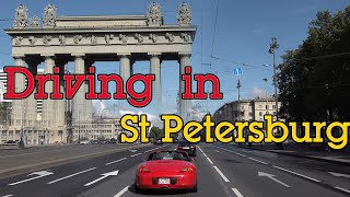 Driving in St Petersburg Russia - Day and Night