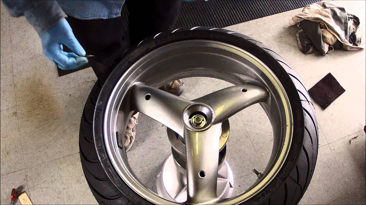 Bubble Balancing A Single Sided Swingarm Motorcycle Wheel