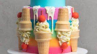 How To Create An Ice-Cream Themed Cake