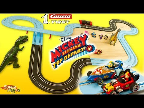 Mickey Top Départ Circuit Carrera First avec Flash McQueen Cars Jouet Noel 2018 Kids