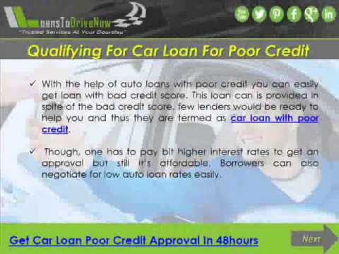 No Credit Car Loans For People With Poor Credit