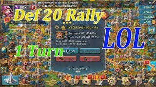 Lords Mobile - One Turn Def 20 Rally From LH - War K435