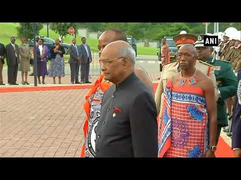 President Kovind inspected Guard of Honour in Swaziland