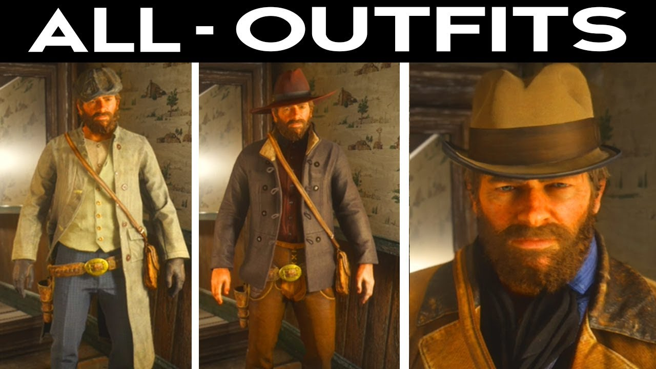 3acfb13a1fa6e Red Dead Redemption 2 - All Outfits Character Customization Clothing  Showcase