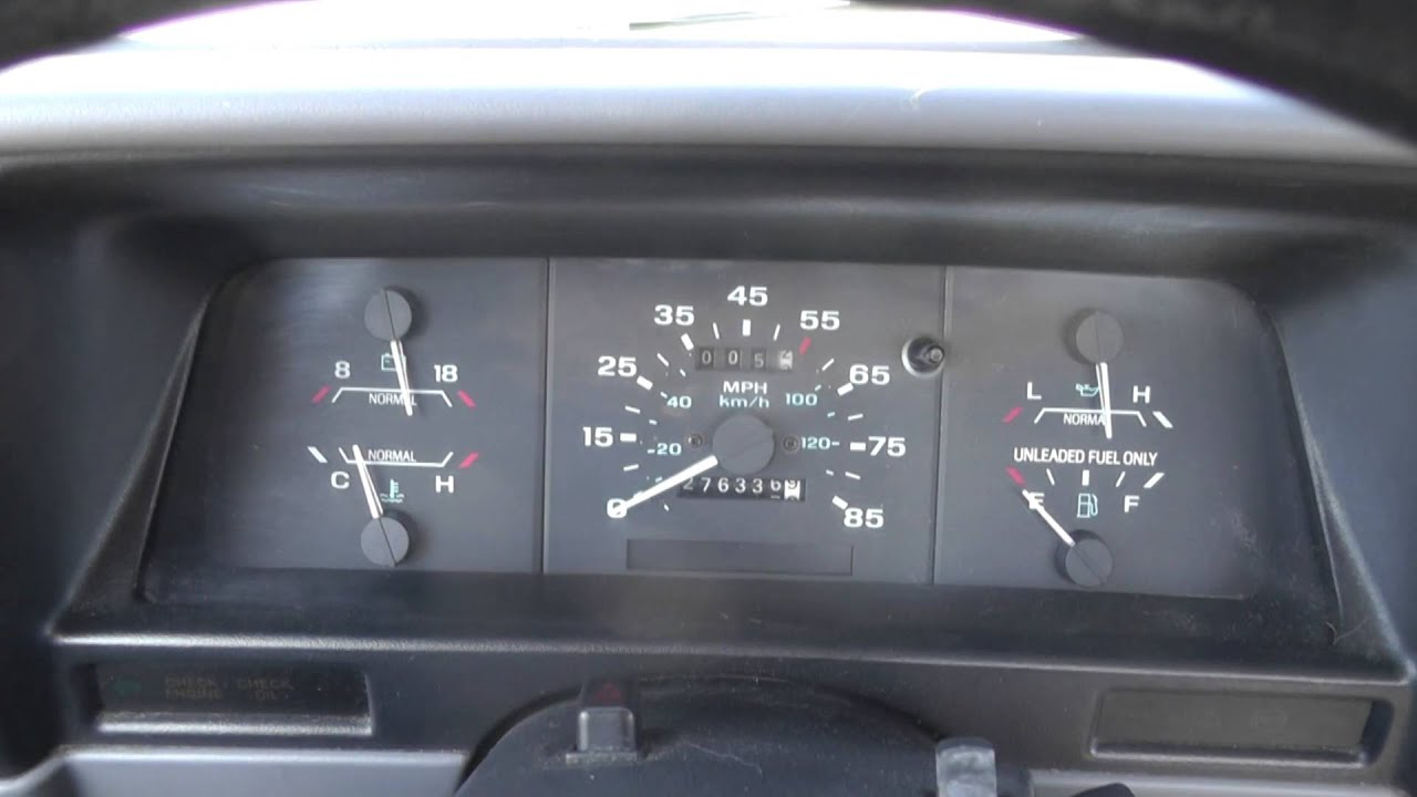 1989 Ranger Instrument Cluster Wiring Diagram 45 Electric Meter Diagrams Maxresdefault Ford Fuel Gauge Does Not Work Part 1 Youtube Chevy Harness At