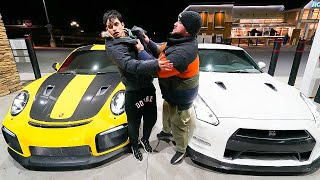 The Most INTENSE Drag Race! (Porsche 911 GT2 RS vs Nissan GT-R)