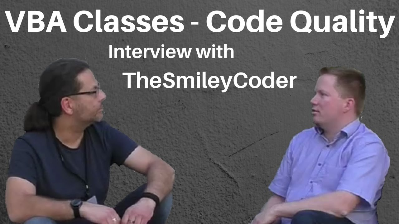 Better VBA - VBA Classes - Code Quality - Interview with TheSmileyCoder at  AccessDevCon