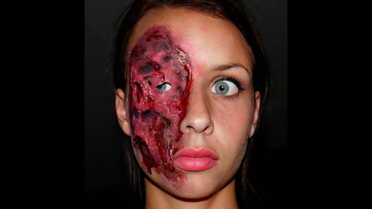 Halloween Series 2013: Latex Face Piece; Burn/Melted Skin FX ...