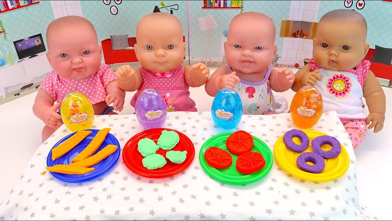 Разноцветный Слайм Послушным Девочкам Мультики Как Мама Кормила Куклы Пупсики 108мама тв